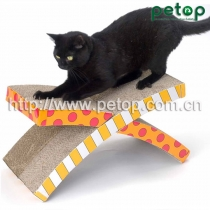 PT1008 Good Selling Shaped Cat Scratcher Lounge Bed